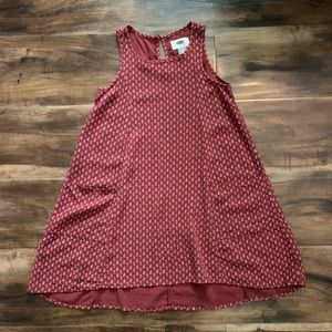 Old Navy girls burgundy dress